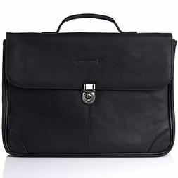 Alpine Swiss Business Portfolio Genuine Leather Briefcase Fl