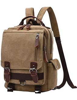 Mygreen Canvas Backpack, Laptop Backpack, Vintage Canvas Bac