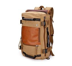 ibagbar Canvas Backpack Travel Bag Hiking Bag Camping Bag Ru