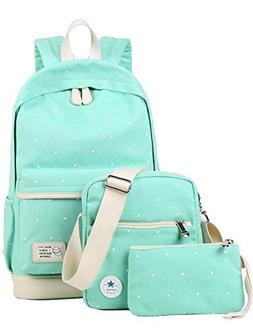 Canvas Backpack for School Girls Shoulder Bag Messenger Purs