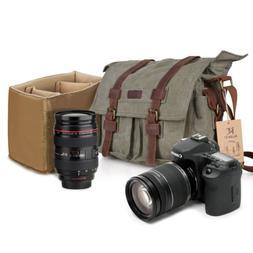 Editorial Pick Kattee Canvas Cow Leather DSLR SLR Vintage Camera Shoulder M 10b2af12ff9d9