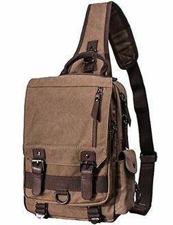 Mygreen Canvas Cross Body Messenger Bag Shoulder Sling Backp