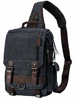 Mygreen Canvas Cross Body Messenger Bag Shoulder Sling Backp