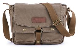Gootium Canvas Genuine Leather Vintage Messenger Bag Crossbo