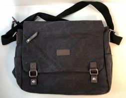 ibagbar Canvas Laptop Messenger Bags 14 Inch Crossbody Shoul