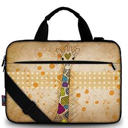 "iColor 15"" Canvas Laptop Shoulder Messenger Bags 14"" 15.4 In"
