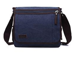 Sechunk Canvas Leather Messenger Bag