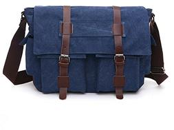 Sechunk Classic Canvas Men Messenger Bag Leisure Unisex Casu