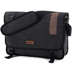 Vonxury Canvas Mens Messenger Bag Vintage 15 inch Laptop Bag