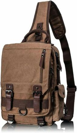 Leaper Canvas Message Sling, Outdoor Cross Body, Messenger S