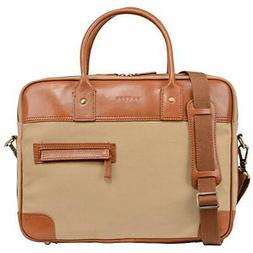 Banuce Canvas Messenger Bag 14 Inch Laptop Briefcase for Men