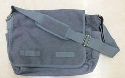 canvas messenger bag gray unused