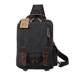 Ulgoo Canvas Messenger Bag One Strap Sling Cross Body Should