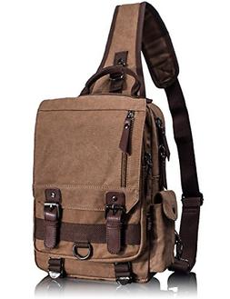 Leaper Canvas Messenger Bag Sling Bag Cross Body Bag Shoulde
