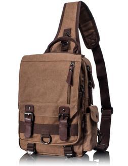 Leaper Canvas Messenger Bag Sling Bag Cross Body Bag Shoulde
