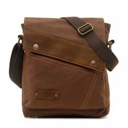 Sechunk Canvas Messenger Bags Shoulder Crossbody Purse Brown