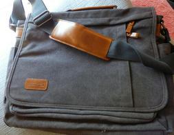 canvas messenger laptop bag 15 5 inch