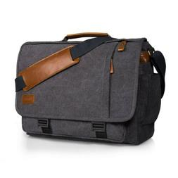 canvas messenger laptop bag 15 6 inch