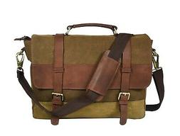 Canvas Messenger Shoulder Bag Men Satchel Vintage School Cro