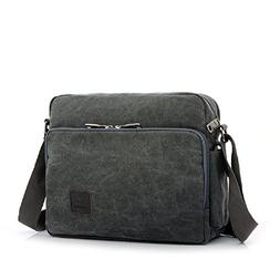 Canvas Shoulder Bag Men Multifunction Versatile Crossbody Me