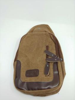 Sicily Canvas Shoulder Sling Bag Backpack Day Pack Hiking Cy