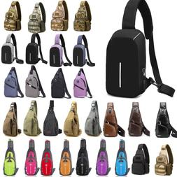 Canvas Shoulder Sling Chest Bags Pack Travel Hiking Crossbod