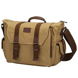S-ZONE Large Canvas SLR DSLR Camera Shoulder Messenger Bag f
