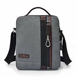 MiCoolker Canvas Small Vintage Multipurpose Shoulder Bag Men