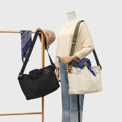 Canvas Tote Bag Crossbody Bag Shoulder Bag Handbag Adjustabl
