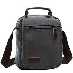 Mygreen Canvas Vintage Messenger Bag Small Travel School Cro
