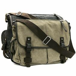 Casual Vintage Canvas Cross Body Messenger Bookbag Shoulder