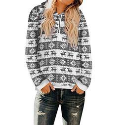 kaifongfu Christmas Hooded Sweatshirt for Women Winter Sweat