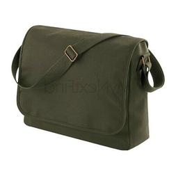 BagBase Classic Canvas Messenger Bag