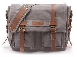 Sweetbriar Classic Laptop Messenger Bag, Gray - Canvas Pack