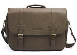 Sweetbriar Classic Laptop Messenger Bag, Brown - Vegan Leath