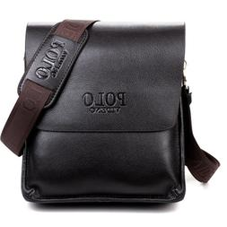 Classic Men Messenger Bag Male Shoulder  Leather Crossbody P