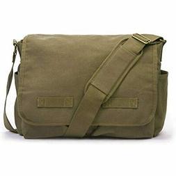 Sweetbriar Classic Messenger Bag - Vintage Canvas, Olive Dra