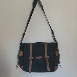 classic messenger bag vintage canvas shoulder bag
