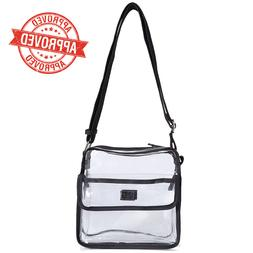 Clear Cross-Body Messenger Shoulder Bag NFL Stadium Approved