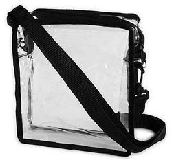 Clear Cross-Body Messenger Shoulder Bag Stadium Approved Tra