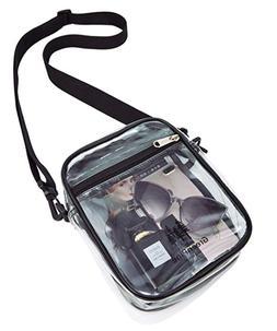 Clear Messenger Bag for Women & Men NFL Stadium Approved Tra