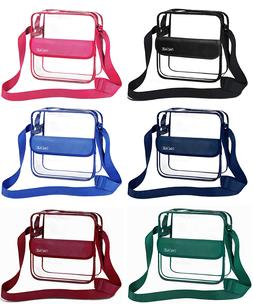 Clear Messenger Bag Women Men NFL Stadium Approved Crossbody