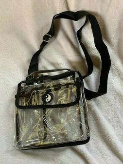Clear Tote Cross Body Messenger Shoulder Lunch Bag NFL Stadi