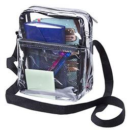 Clear Tote Cross Body Messenger Shoulder Lunch Bag Stadium A