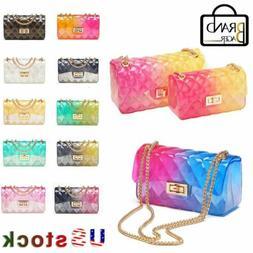 Clear Transparent jelly Shoulder Bag Gradient Candy Color Ch