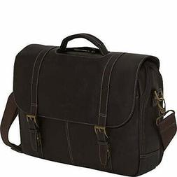 Samsonite Colombian Leather Flap-Over Messenger Bag, Brown,