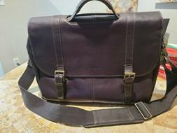 Samsonite Colombian Leather Flap Over Messenger/Computer Bag