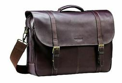 Samsonite Colombian Leather Flap-Over Messenger Bag, Brown