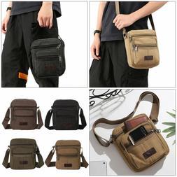 Color Shoulder Messenger Bag Hip Purse Canvas Crossbody Bags