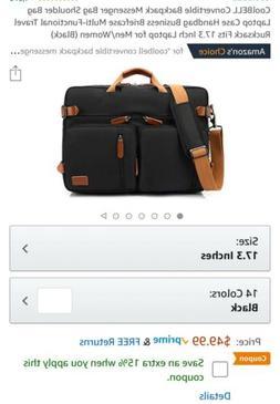 CoolBell Convertable Backpack Messenger Bag Shoulder Bag Lap
